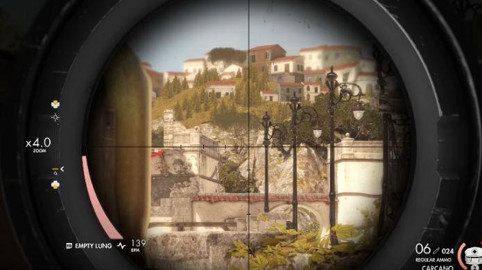 Sniper Elite 4: cada rifle possui seu próprio nível de zoom (Foto: Reprodução/Thomas Schulze)