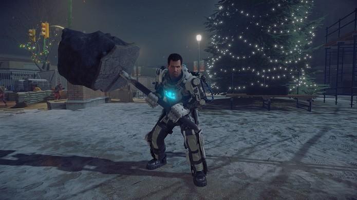Dead Rising 4: traje especial suporta armas únicas (Foto: Divulgação/Capcom)