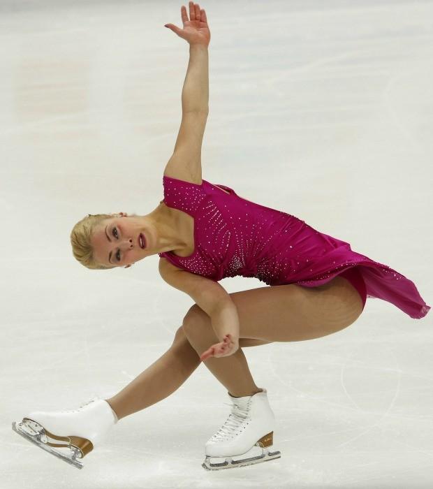 patinação artística no gelo Kiira Korpi no Grand Prix de Moscou (Foto: Reuters)