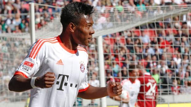 Alaba bayern de munique gol hannover 96 (Foto: Agência AP)