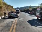 Acidente entre três veículos deixa feridos entre Poços e Bandeira do Sul