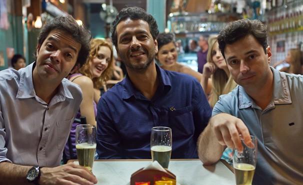 Bruno Mazzeo, Marcos Palmeira e Emilio Orciollo Netto são frequentadores assíduos do Bar Harmonia (Foto: divulgação / reprodução)