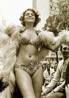 Leila Diniz no carnaval (Foto: Arquivo)