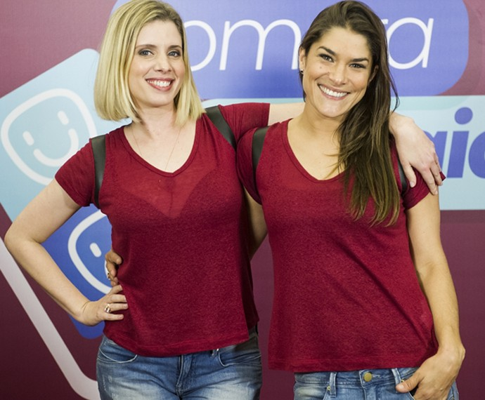 Daniele Valente e Priscila Fantin estão juntas no Tomara que Caia, e na plateia do SuperStar (Foto: Caiuá Franco/TV Globo)