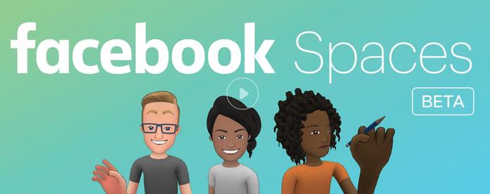 Spaces é a plataforma de realidade virtual do Facebook (Foto: Reprodução/Facebook)