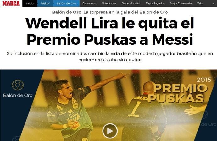 Wendell Lira - marca (Foto: Reprodução)