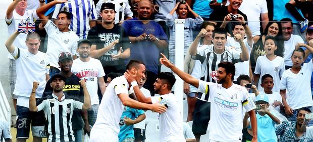 Neto santos gol palmeiras (Foto: Marcos Ribolli / Globoesporte.com)