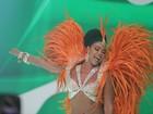 Escolas de samba carioca gravam a vinheta de carnaval da Globo