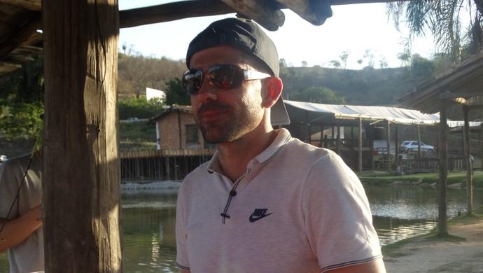 Victor na pescaria (Foto: Guilherme Frossard)