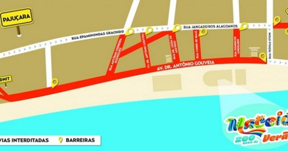Confira os pontos interditados neste sábado para o Festival Maceió ... - Globo.com