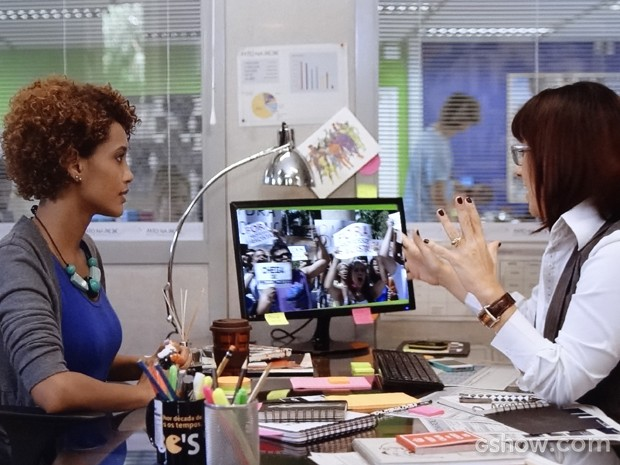 Verônica promovida (Foto: Geração Brasil/ TV Globo)