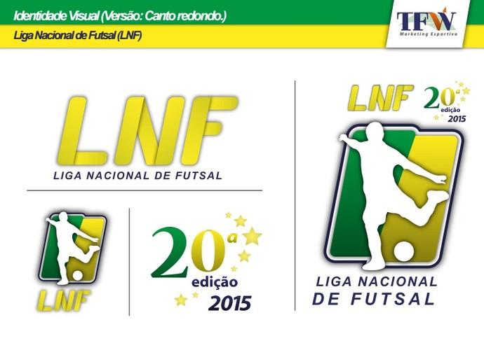 Identidade visual Liga Nacional de Futsal (Foto: Divulgação)