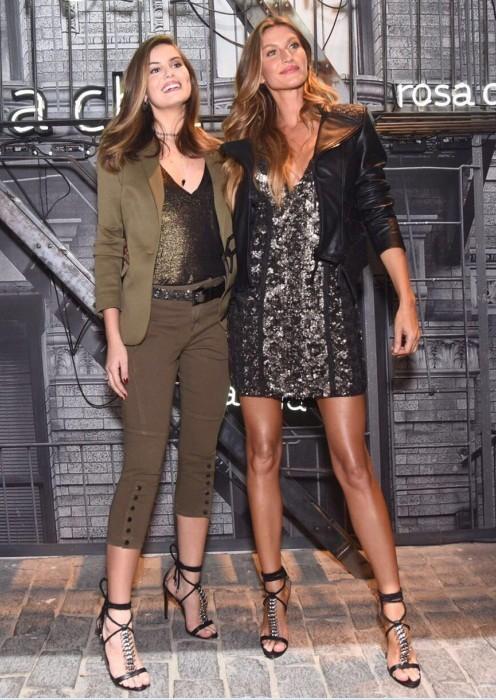 Gisele e Camila Queiroz estavam usando a mesma sandália na festa (Foto: Lu Prezia)