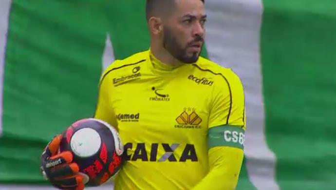 Luiz, goleiro do Criciúma (Foto: Reprodução SporTV)