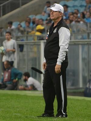 Levir Culpi durante empate do Santos com o Grêmio (Foto: Luiz Munhoz/Recorte do Olhar/Agência O Glob)
