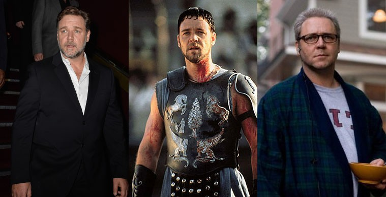 A imagem que vem à mente quando citado o nome de Russell Crowe é a do general romano Maximus, em 'Gladiador' (2000). Oito anos depois, o ator brinda a plateia com uma transformação radical em 'Rede de Mentiras'. Para o papel, ele engordou quase 29 kg. (Foto: Getty Images/Reprodução)