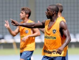Seedorf no treino do Botafogo (Foto: Satiro Sodré / Agif)