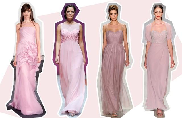 Vestidos De Madrinha Em Tons Pastel 10 Looks Cl 225 Ssicos