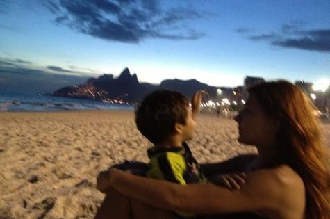 Mariah Rocha com o filho João Pedro (Foto: Arquivo pessoal)