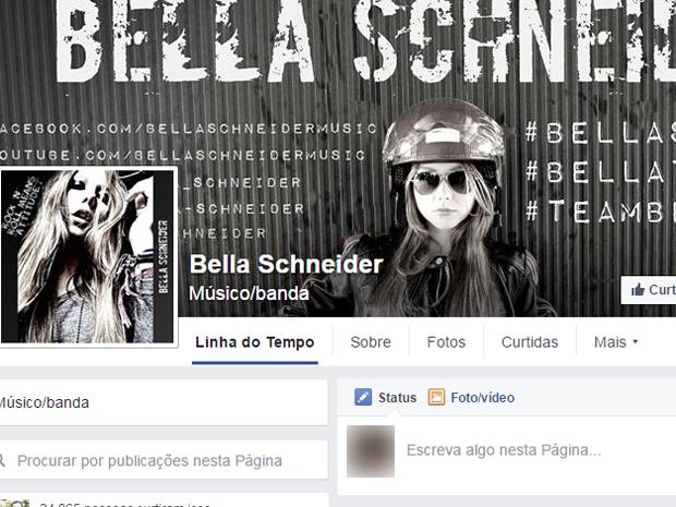 Bella Schneider é ameaçada de estupro e morte pelas redes sociais (Foto: Reprodução/Facebook)