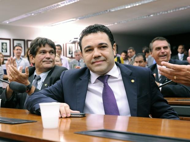 O deputado federal e pastor Marco Feliciano (PSC-SP), após ser confirmado como presidente da Comissão de Direitos Humanos (Foto: Alexandra Martins/Agência Câmara)