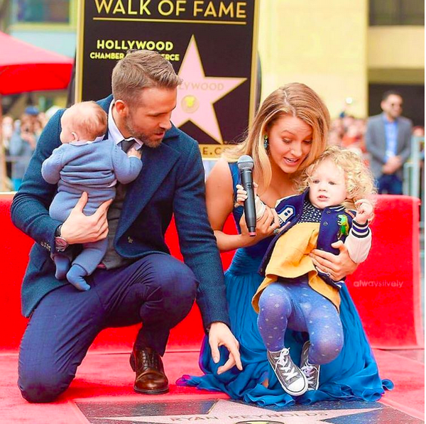 Ryan Reynolds, Blake Lively e as duas fihas (Foto: Instagram)