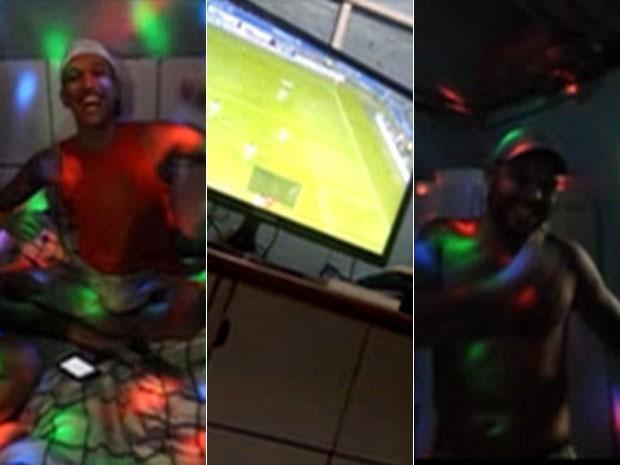 Imagens exclusivas mostram festa dentro de presídio pernambucano, no Recife (Foto: Reprodução / TV Globo)