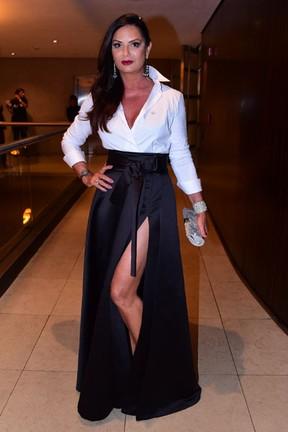 Luiza Brunet em festa em São Paulo (Foto: Leo Franco/ Ag. News)