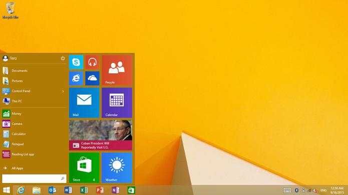 Menu Iniciar chega, finalmente, ao Windows RT (Foto: Reprodução/Microsoft News)