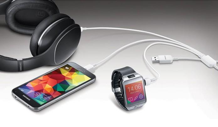 Cabo Samsung promete conectar até três dispositivos ao mesmo tempo (Foto: Divulgação/Samsung)