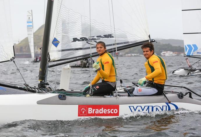 Samuel Albrecht e Geórgia da Silva Nacra 17 vela (Foto: Fred Hoffmann / CBVela)