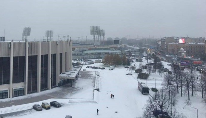 BLOG: Tempestade em São Petersburgo deixa estádio do Zenit cercado de muita neve