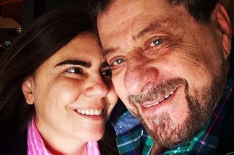 Flávio Galvão com a namorada, a atriz Mayara Magri (Foto: Arquivo pessoal)