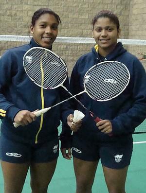 Pan badminton Luana e Lohaynny Vicente (Foto: Gabriele Lomba / Globoesporte.com)