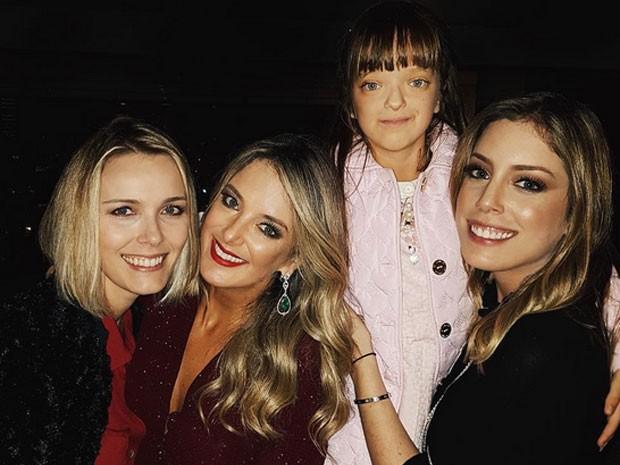 Ticiane Pinheiro comemora aniversário com a filha, Rafaella Justus, e Fabiana Justus em São Paulo (Foto: Instagram/ Reprodução)