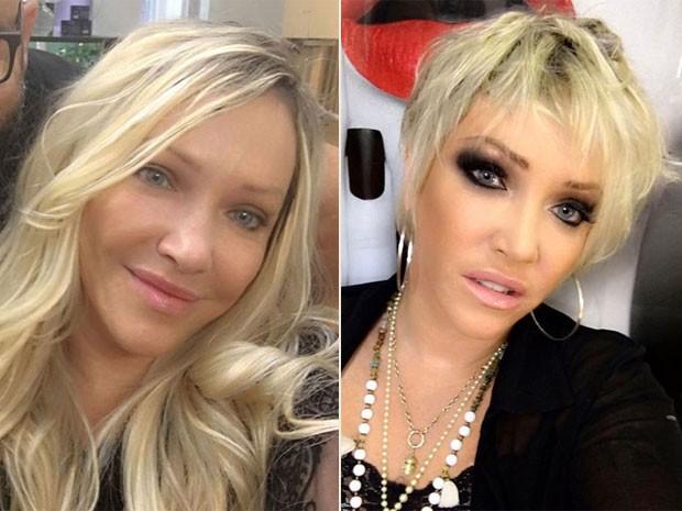 Deborah Blando: antes e depois (Foto: Instagram/ Reprodução)
