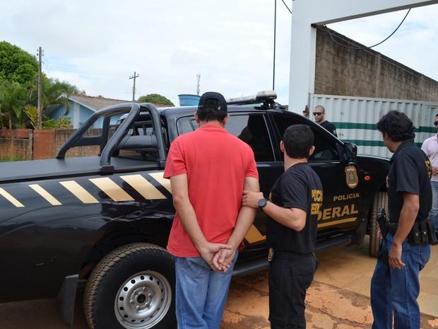 Empresário foi conduzido à PF após operação em Vilhena (Foto: Aline Lopes/ G1)