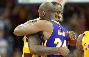 Kyrie dá show, e Cavs batem os Lakers no último jogo de Kobe em Cleveland