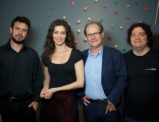 Cristian Budu, Maria Fernanda Cândido, Mario Vitor e Irineu Franco Perpetuo  (Foto: Divulgação)