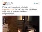 Fãs de Leonard Cohen fazem orações na porta da casa onde músico morava