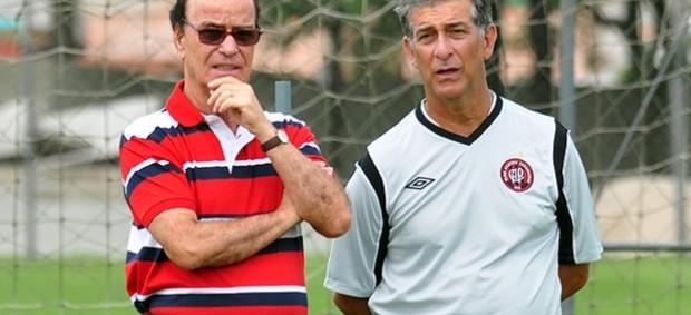 Diretor Antônio Lopes e técnico Ricardo Drubscky, do Atlético-PR (Foto: Divulgação/Site oficial do Atlético-PR)