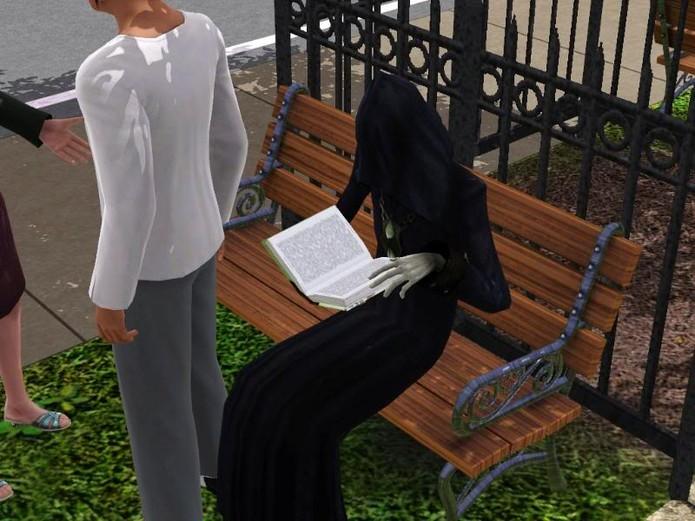 Aprenda a jogar com a Dona Morte em The Sims 3 (Foto: osimbr)