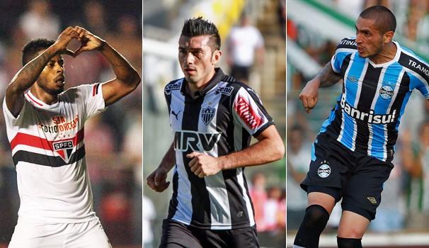 São Paulo, Atlético-MG e Grêmio jogam nesta noite, com exibição da Globo e de suas afiliadas (Foto: globoesporte.com)