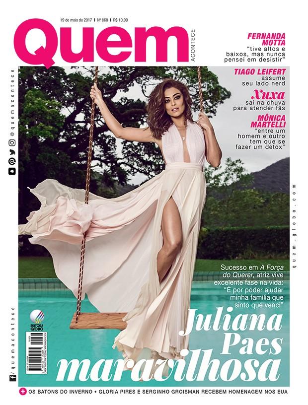 Juliana Paes é capa da QUEM (Foto: Sergio Baia/Ed. Globo)