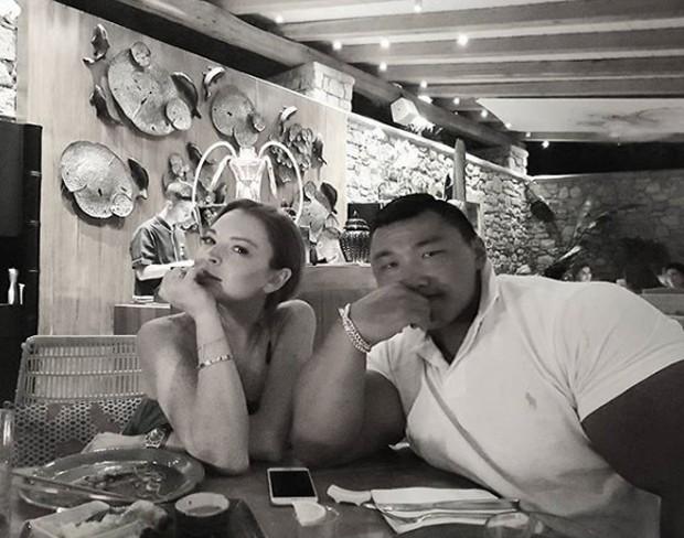 Lindsay Lohan e Je-Yong Ha (Foto: Reprodução/Instagram)