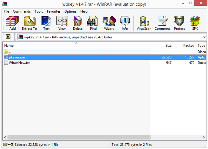 Arquivos RAR precisam de extrator para serem abertos (Foto: Reprodução/WinRar)