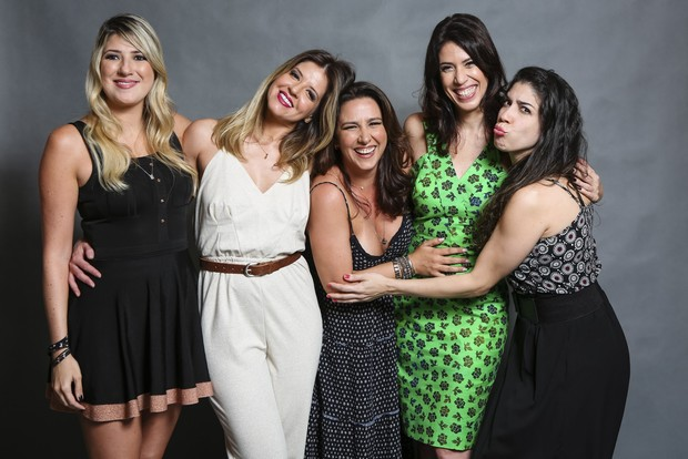 Dani Calabresa, Mariana Santos, Renata Castro Barbosa, Maria Clara Gueiros e Cristiana Pompeo (Foto: Globo/Tata Barreto)