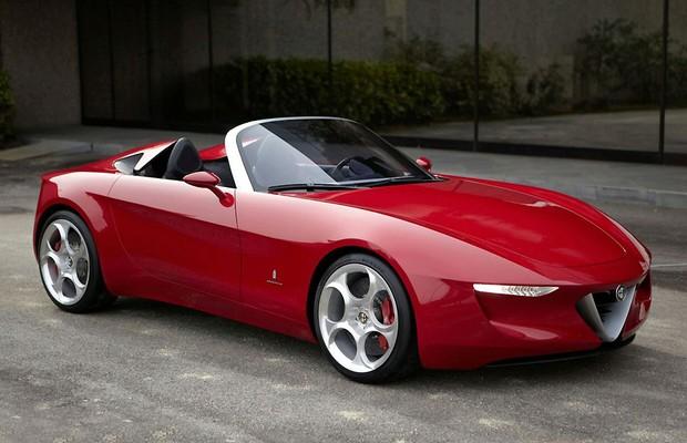 Pininfarina Alfa Romeo 2uettottanta Concept deve inspirar Spider (Foto: Divulgação)