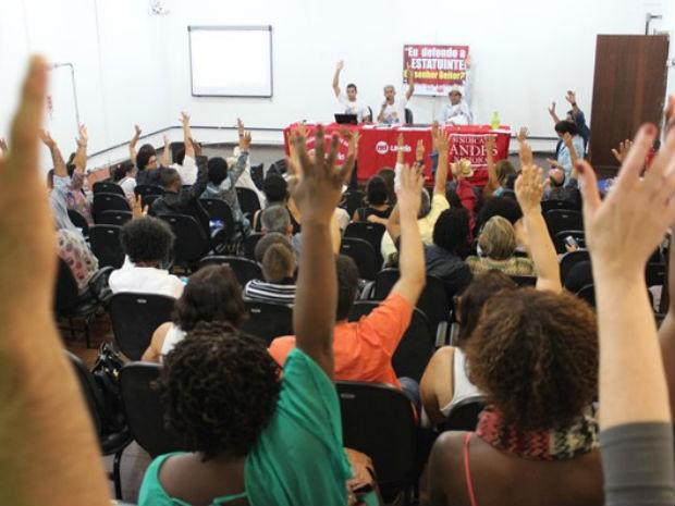 Assembleia dos professores da Uneb (Foto: Divulgação/Aduneb)