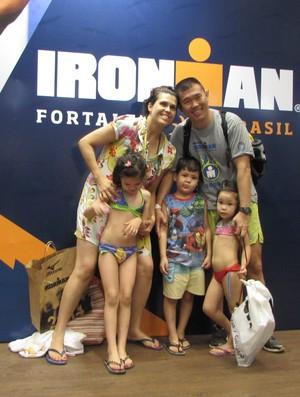 Família Tsukuda Ironman Fortaleza (Foto: Juscelino Filho)
